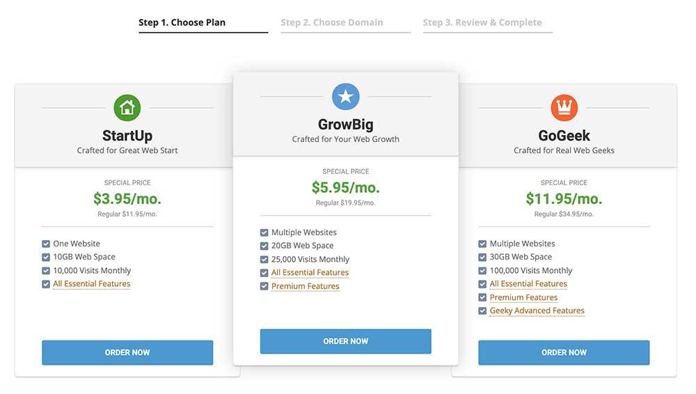 Siteground Managed WP Hosting Plans