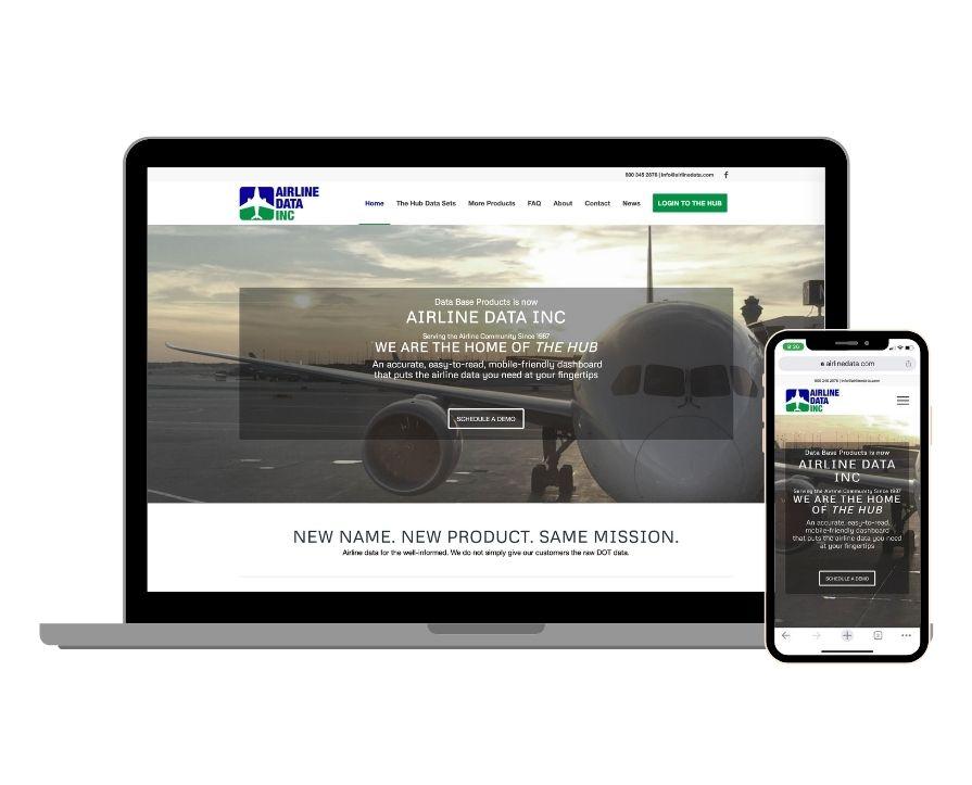 Airline Data, Inc Website Screenshot