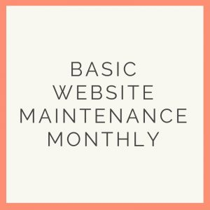 basic maintenance monthly