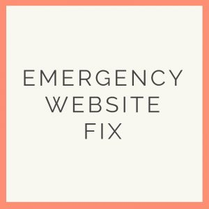 website emergency fix