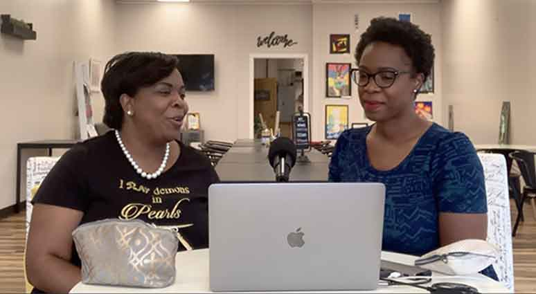 Tamika Washington and Ebony Looney chat on the Techie Girl with the Lipstick Podcast