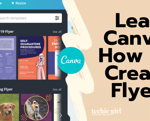 use Canva to create flyers