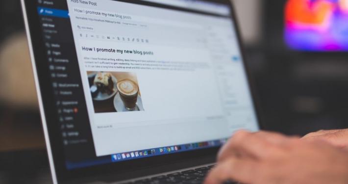 Wordpress blog screen