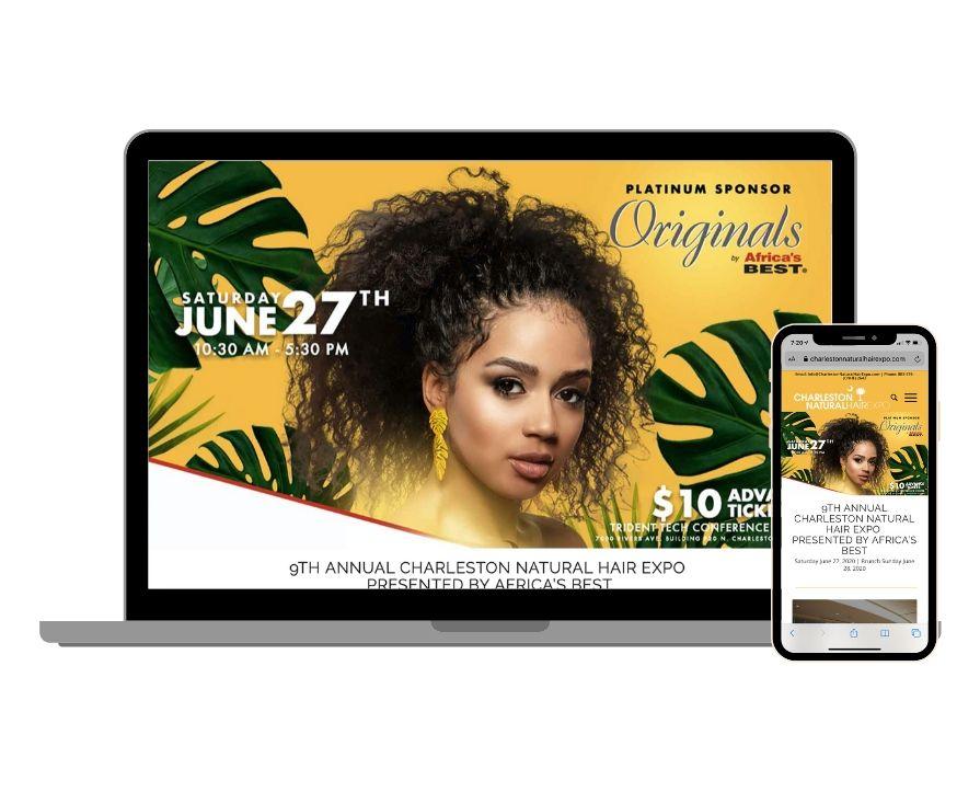 Charleston Natural Hair Expo Website