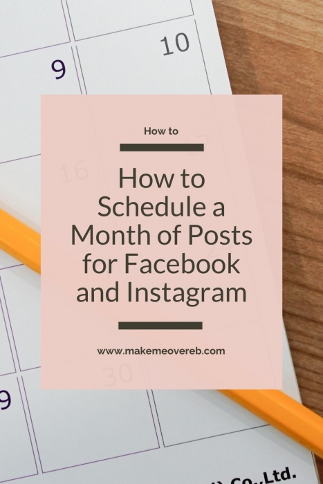 Scheduling a Month of Posts for Facebook and Instagram