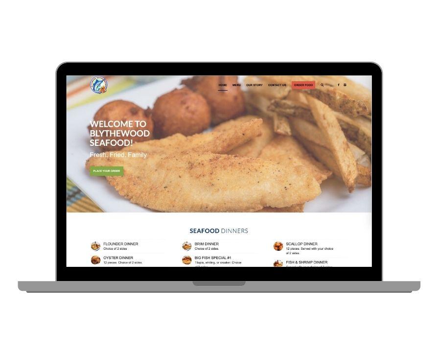 Blythewood Seafood Website Screenshot