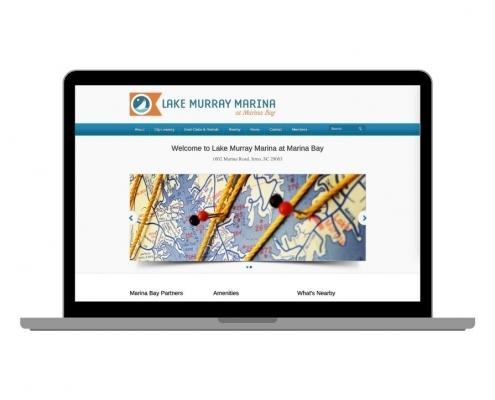 Lake Murray Marina Website Screenshot